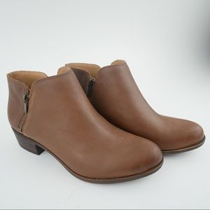 Lucky Brand sz 8 Burklee brown leather booties